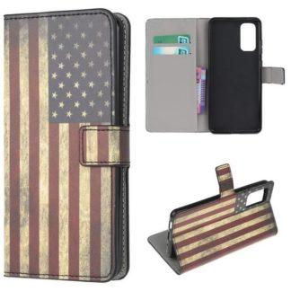 Plånboksfodral Samsung Galaxy S20 - Flagga USA