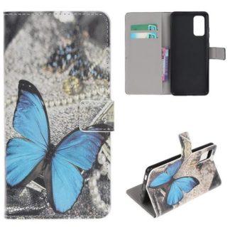 Plånboksfodral Samsung Galaxy S20 - Blå Fjäril