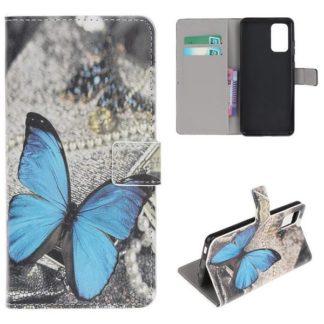 Plånboksfodral Samsung Galaxy S20 Plus - Blå Fjäril