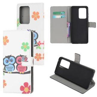 Plånboksfodral Samsung Galaxy S20 Ultra - Ugglor & Blommor