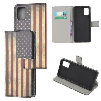 Plånboksfodral Samsung Galaxy A51 - Flagga USA