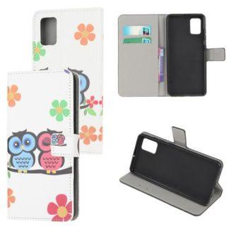 Plånboksfodral Samsung Galaxy A71 - Ugglor & Blommor