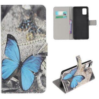 Plånboksfodral Samsung Galaxy A71 - Blå Fjäril