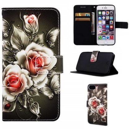 Plånboksfodral iPhone SE (2020) – Rosor