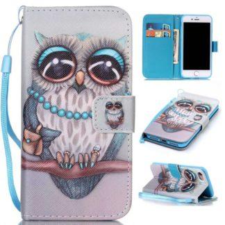 Plånboksfodral iPhone SE (2020) – Utsmyckad Uggla