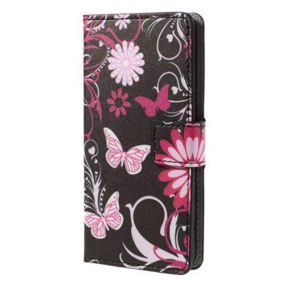 Plånboksfodral Samsung Galaxy S10 - Svart med Fjärilar