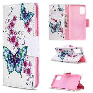 Plånboksfodral Samsung Galaxy A41 – Fjärilar och Blommor