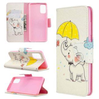 Plånboksfodral Samsung Galaxy A71 – Elefant med Paraply