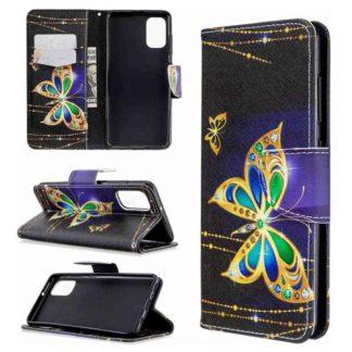 Plånboksfodral Samsung Galaxy A51 – Guldfjäril