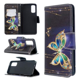 Plånboksfodral Samsung Galaxy S20 – Guldfjäril