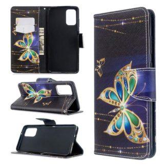 Plånboksfodral Samsung Galaxy S20 Plus – Guldfjäril