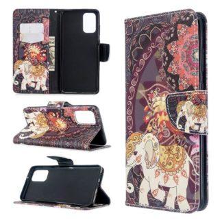Plånboksfodral Samsung Galaxy S20 Plus – Indiskt / Elefant