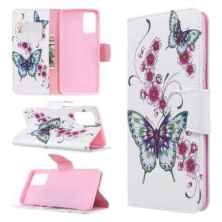 Plånboksfodral Samsung Galaxy S20 Plus – Fjärilar och Blommor