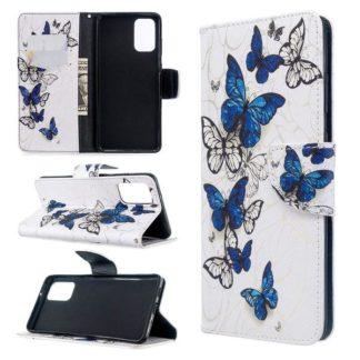 Plånboksfodral Samsung Galaxy S20 Plus – Blåa och Vita Fjärilar