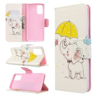 Plånboksfodral Samsung Galaxy S20 Plus – Elefant med Paraply