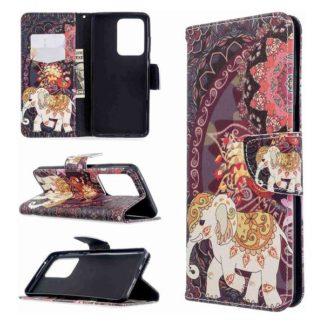 Plånboksfodral Samsung Galaxy S20 Ultra – Indiskt / Elefant