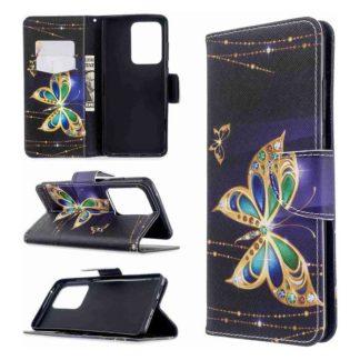 Plånboksfodral Samsung Galaxy S20 Ultra – Guldfjäril