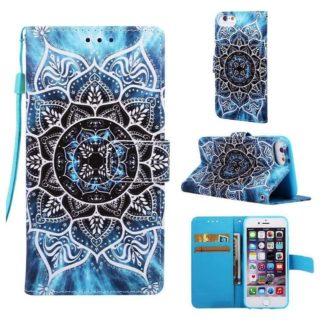 Plånboksfodral Apple iPhone 6 – Blå Mandala
