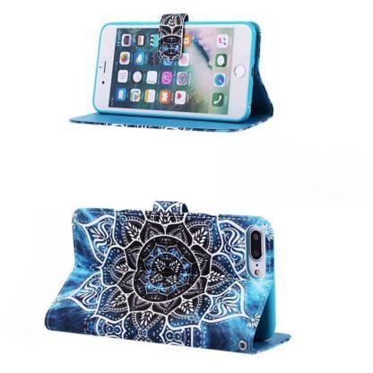 Plånboksfodral Apple iPhone 8 Plus – Blå Mandala