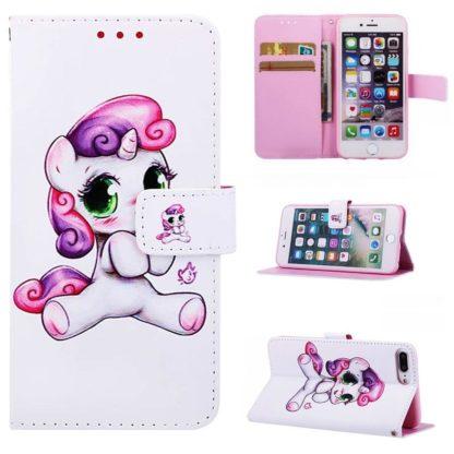 Plånboksfodral Apple iPhone 8 Plus – Enhörning