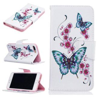 Plånboksfodral Apple iPhone 6 Plus – Fjärilar och Blommor