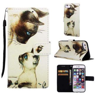 Plånboksfodral Apple iPhone SE (2020) – Katter