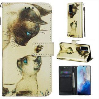 Plånboksfodral Samsung Galaxy A41 – Katter