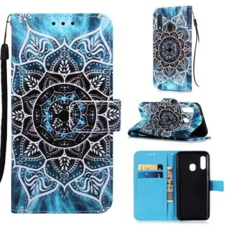 Plånboksfodral Samsung Galaxy A40 – Blå Mandala