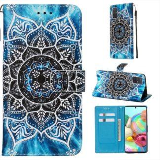Plånboksfodral Samsung Galaxy A71 – Blå Mandala