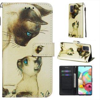 Plånboksfodral Samsung Galaxy A71 – Katter