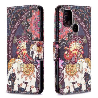 Plånboksfodral Samsung Galaxy A21s – Indiskt / Elefant