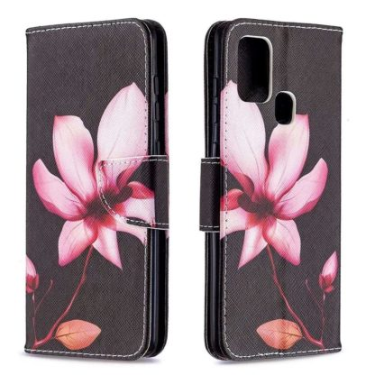 Plånboksfodral Samsung Galaxy A21s – Rosa Blomma