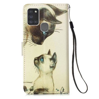 Plånboksfodral Samsung Galaxy A21s – Katter