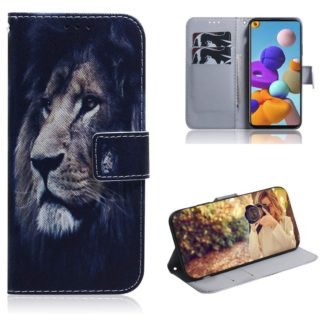 Plånboksfodral Samsung Galaxy A21s – Lejon