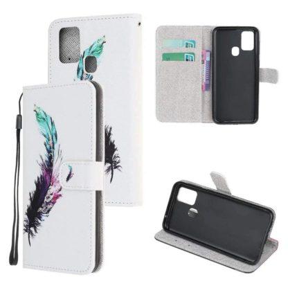 Plånboksfodral Samsung Galaxy A21s – Fjäder