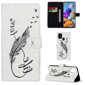 Plånboksfodral Samsung Galaxy A21s – Life / Love