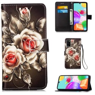 Plånboksfodral Samsung Galaxy A41 - Rosor