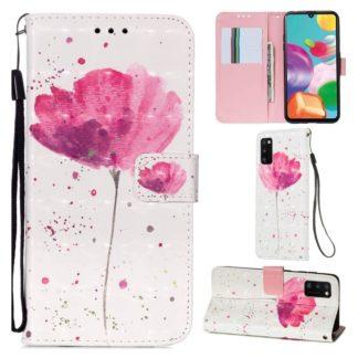 Plånboksfodral Samsung Galaxy A41 - Rosa Blomma