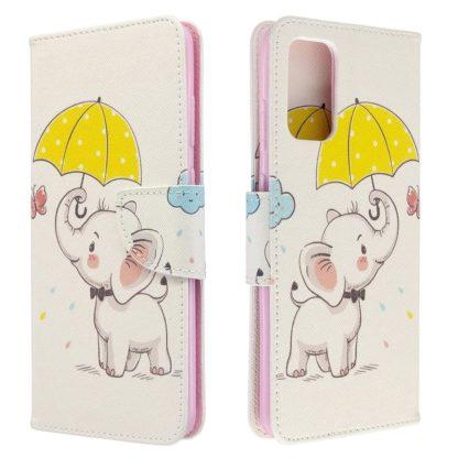 Plånboksfodral Samsung Galaxy S20 FE - Elefant med Paraply
