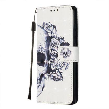Plånboksfodral Samsung Galaxy S20 FE - Döskalle / Rosor