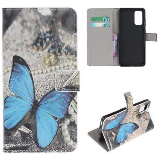 Plånboksfodral Samsung Galaxy S20 FE - Blå Fjäril
