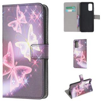 Plånboksfodral Samsung Galaxy S20 FE - Lila / Fjärilar