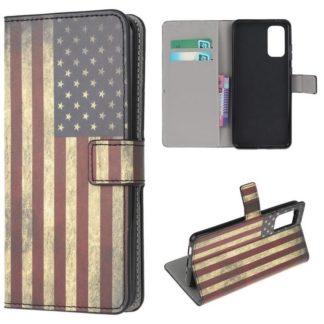 Plånboksfodral Samsung Galaxy S20 FE - Flagga USA