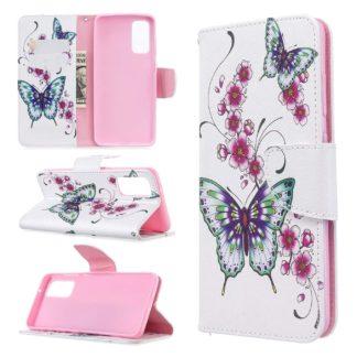 Plånboksfodral Samsung Galaxy S20 FE - Fjärilar och Blommor