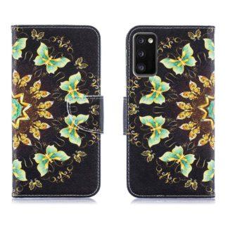 Plånboksfodral Samsung Galaxy S20 FE - Fjärilar I Cirkel