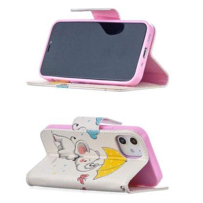 Plånboksfodral Apple iPhone 12 Mini – Elefant med Paraply