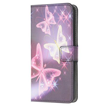 Plånboksfodral Apple iPhone 12 Mini - Lila / Fjärilar