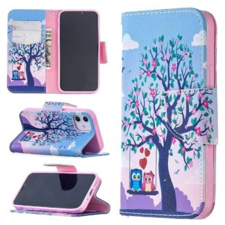Plånboksfodral Apple iPhone 12 – Ugglor på Gunga