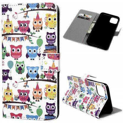 Plånboksfodral Apple iPhone 12 - Ugglor På Kalas