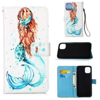 Plånboksfodral Apple iPhone 12 – Sjöjungfru